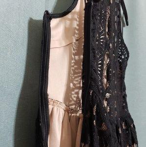 Gianni Bini Dresses - Gianni Bini Black Nude Lace Maddison Dress